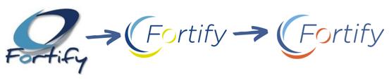 évolution logo fortify